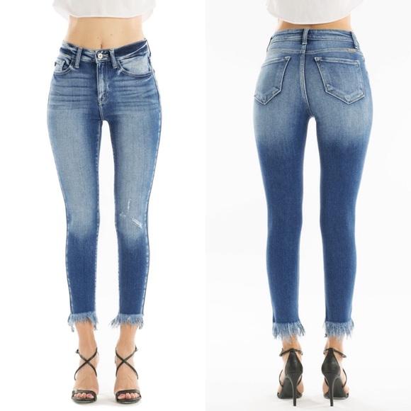 133e3f84ad5f KanCan Jeans | Nwt Barlettkendra Frayed Crop Skinny | Poshmark